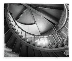 Lighthouse Stairs Fleece Blanket