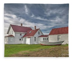 Keepers House At The Monheagn Lighthouse Fleece Blanket