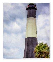 Lighthouse - Tybee Island, Georgia Fleece Blanket