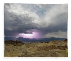 Lighting Over The Amargosa Range Fleece Blanket