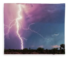 Fleece Blanket featuring the photograph Lightning Dancer by Rick Furmanek
