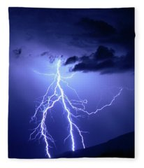 Lightning Strikes Twice Fleece Blanket