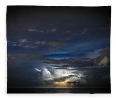Lightning's Water Dance Fleece Blanket