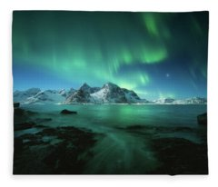 Lights Above Lofoten Fleece Blanket