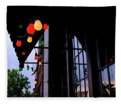 Lights In Corktown In Detroit Michigan Fleece Blanket