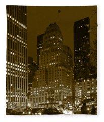 Lights Of 5th Ave. Fleece Blanket