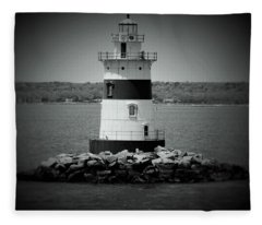 Lights Out-bw Fleece Blanket