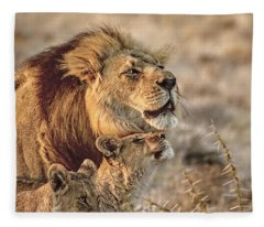 Like Father Like Son Fleece Blanket