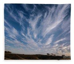 Like Feathers In The Sky Fleece Blanket