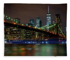 Like Ships In The Night Fleece Blanket