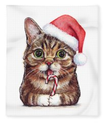 Cat Santa Christmas Animal Fleece Blanket