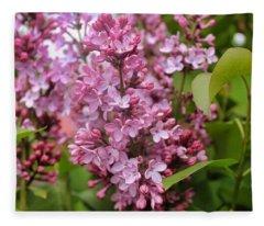 Lilac Bloom Fleece Blanket