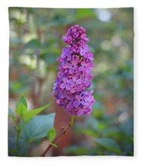 Lilac Bloom- Photography By Linda Woods Fleece Blanket