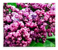 Lilac Blossoms Abstract Soft Effect 1 Fleece Blanket