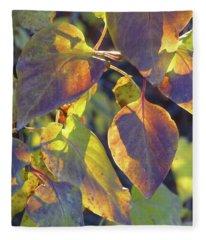 Lilac Leaves Fleece Blanket