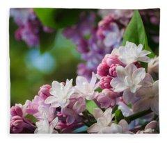 Lilacs Of Spring Fleece Blanket