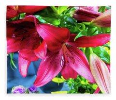 Lilies Fleece Blanket