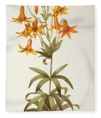 Lilium Penduliflorum Fleece Blanket