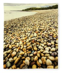 Lillico Beach Tasmania Fleece Blanket