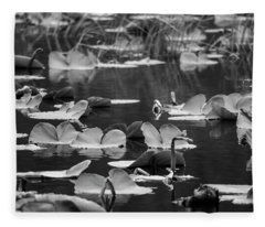 Lilly Pond  Fleece Blanket