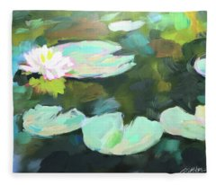 Lillypad Reflections Fleece Blanket