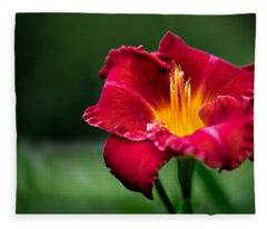 Lily Beauty Fleece Blanket