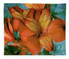 Lily In North Light Multi Fleece Blanket