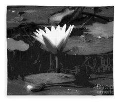 Lily Of The Lake Fleece Blanket