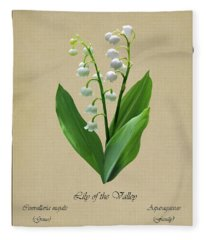 Lily Of The Valley Botanical Fleece Blanket