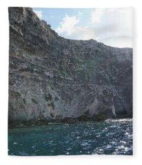 Limestone Cliffs In Gozo, Malta Fleece Blanket