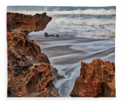 Limestone Ocean Fleece Blanket