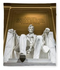 Lincoln Memorial 2 Fleece Blanket