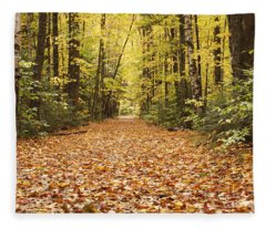 Lincoln Woods Trail  - White Mountains New Hampshire Fleece Blanket