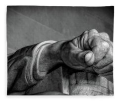Lincoln's Left Hand B-w Fleece Blanket