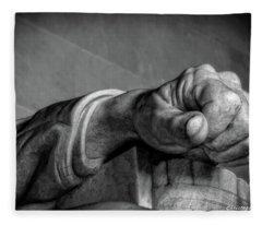 Lincoln's Left Hand B-w Fleece Blanket
