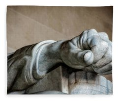 Lincoln's Left Hand Fleece Blanket