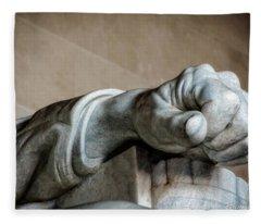 Lincoln's Left Hand Fleece Blanket