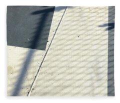 Line And Shadow Fleece Blanket