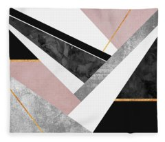 Lines And Layers Fleece Blanket