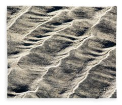 Lines On The Beach Fleece Blanket