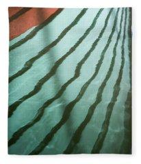 Lines On The Water Fleece Blanket