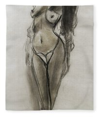 Lingerie Elegance Fleece Blanket