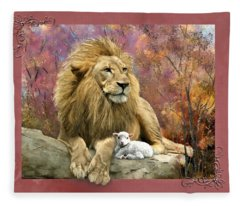 Lion And The Lamb Fleece Blanket