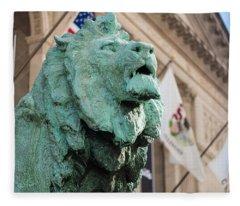 Lion Art Institute Fleece Blanket