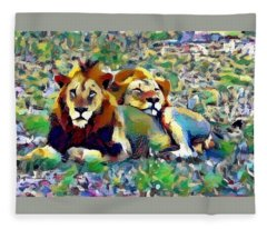 Lion Buddies Fleece Blanket
