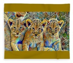 Lion Cubs Fleece Blanket