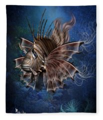 Lion Fish Fleece Blanket