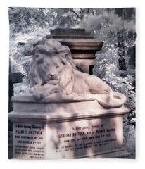 Sleeping Lion Fleece Blanket