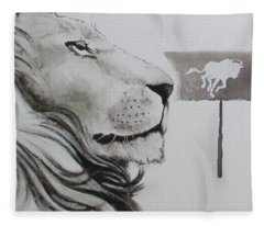 Lion Tears Fleece Blanket