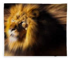 Lion The King Is Comming Fleece Blanket